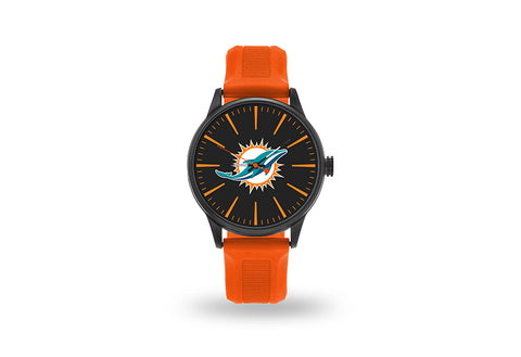 Miami Dolphins Watch Men's Cheer Style with Orange Watch Band