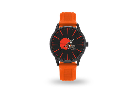 Cleveland Browns Watch Men's Cheer Style with Orange Watch Band