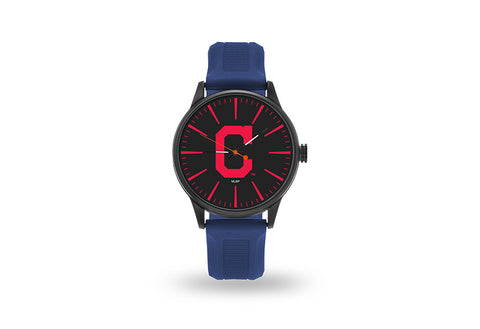 Cleveland Indians Watch Men's Cheer Style with Navy Watch Band