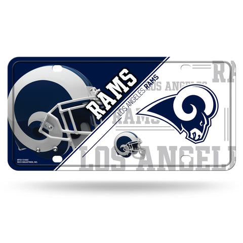 Los Angeles Rams License Plate Metal