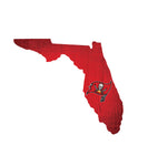 Tampa Bay Buccaneers Sign Wood Logo State Design