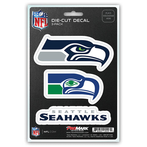 Seattle Seahawks Decal Die Cut Team 3 Pack