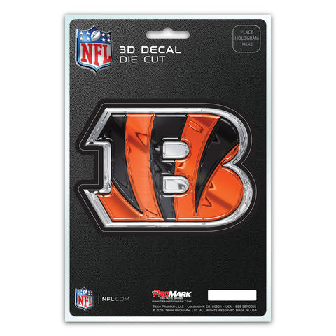 Cincinnati Bengals Decal 5x8 Die Cut 3D Logo Design