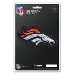 Denver Broncos Decal 5x8 Die Cut 3D Logo Design