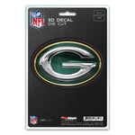 Green Bay Packers Decal 5x8 Die Cut 3D Logo Design