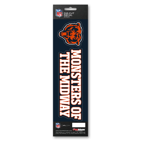 Chicago Bears Decal Die Cut Slogan Pack