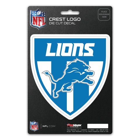 Detroit Lions Decal Shield Design