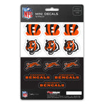Cincinnati Bengals Decal Set Mini 12 Pack