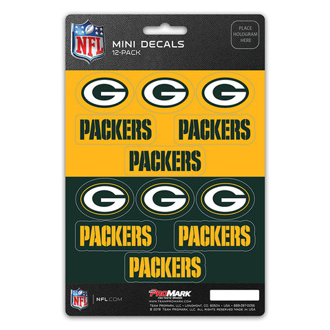 Green Bay Packers Decal Set Mini 12 Pack