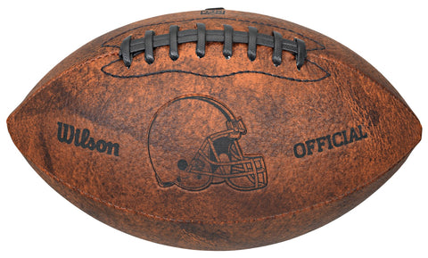 Cleveland Browns Football - Vintage Throwback - 9 Inches