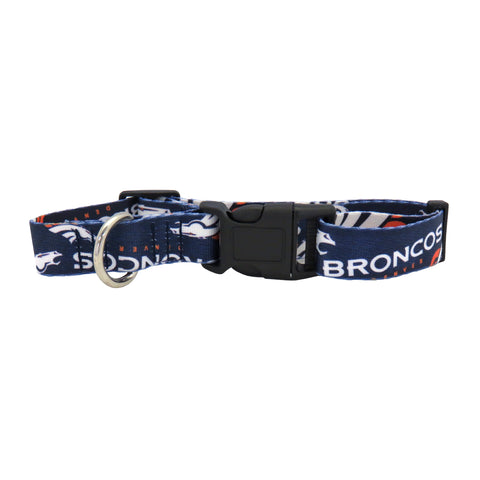 Denver Broncos Pet Collar Size L