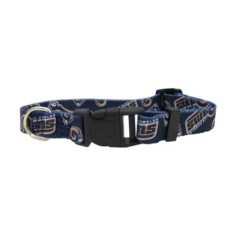 Los Angeles Rams Pet Collar Size M