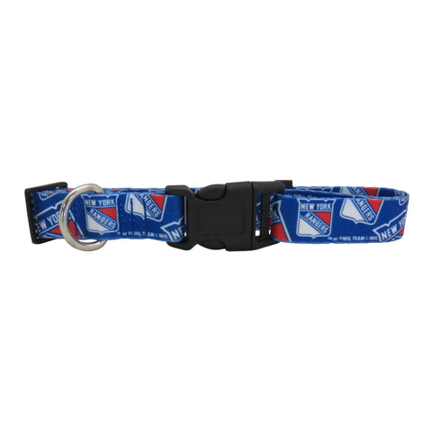 New York Rangers Pet Collar Size S