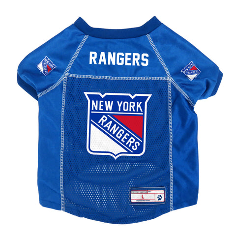 New York Rangers Pet Jersey Size L
