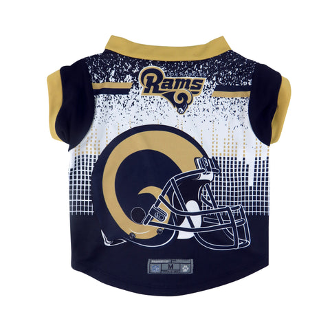Los Angeles Rams Pet Performance Tee Shirt Size XS