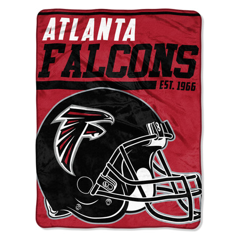 Atlanta Falcons Blanket 46x60 Raschel 40 Yard Dash Design Rolled