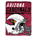 Arizona Cardinals Blanket 46x60 Micro Raschel 40 Yard Dash Design Rolled