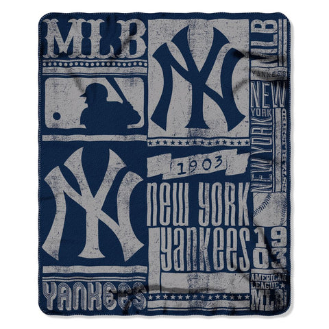 New York Yankees Blanket 50x60 Fleece Strength Design