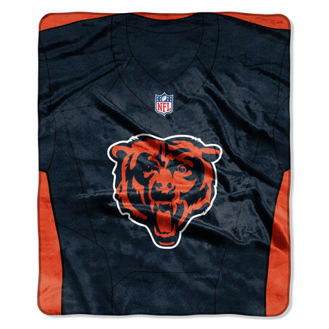 Chicago Bears Blanket 50x60 Raschel Jersey Design