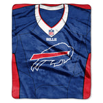 Buffalo Bills Blanket 50x60 Raschel Jersey Design