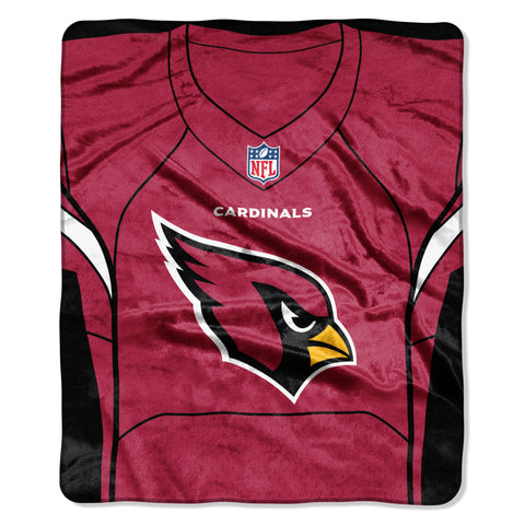 Arizona Cardinals Blanket 50x60 Raschel Jersey Design