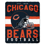 Chicago Bears Blanket 50x60 Fleece Singular Design