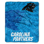 Carolina Panthers Blanket 50x60 Sherpa Strobe Design