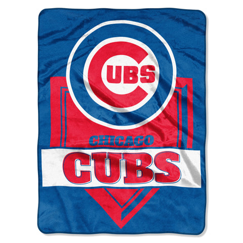 Chicago Cubs Blanket Blanket 60x80 Raschel Home Plate Design