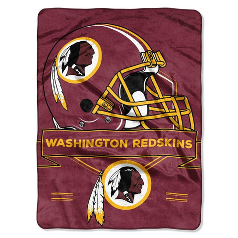 Washington Redskins Blanket 60x80 Raschel Prestige Design