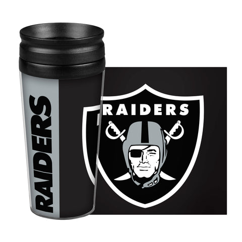 Oakland Raiders Travel Mug 14oz Full Wrap Style Hype Design