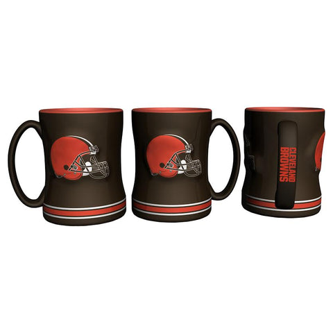 Cleveland Browns Coffee Mug - 14oz Sculpted Relief - New UPC