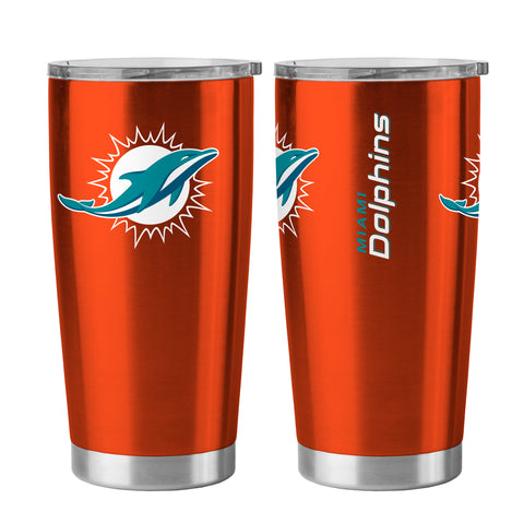 Miami Dolphins Travel Tumbler 20oz Ultra Orange