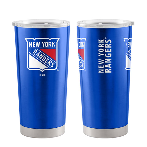 New York Rangers Travel Tumbler 20oz Ultra Blue