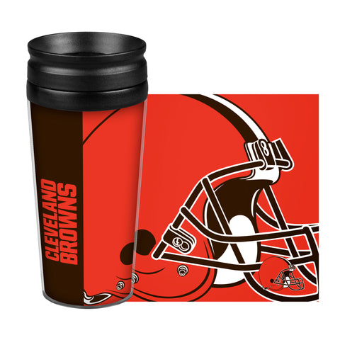 Cleveland Browns Travel Mug - 14 oz Full Wrap - Hype Style