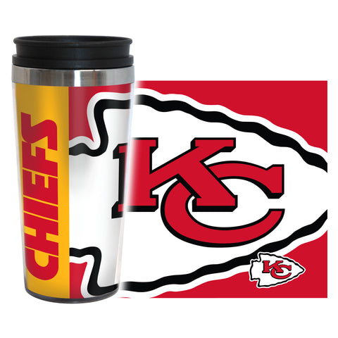 Kansas City Chiefs Travel Mug - 14 oz Full Wrap - Hype Style