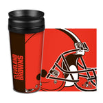 Cleveland Browns Travel Mug 14oz Full Wrap Style Hype Design