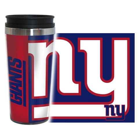 New York Giants Travel Mug 14oz Full Wrap Style Hype Design