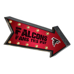 Atlanta Falcons Sign Marquee Style Light Up Arrow Design