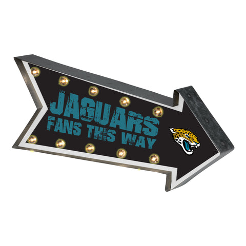 Jacksonville Jaguars Sign Marquee Style Light Up Arrow Design