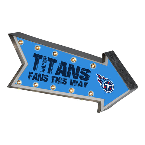 Tennessee Titans Sign Marquee Style Light Up Arrow Design