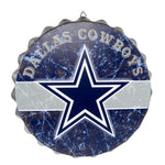 Dallas Cowboys Sign Bottle Cap Style Distressed