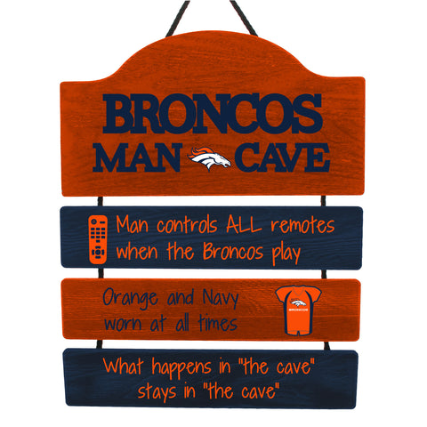 Denver Broncos Sign Wood Man Cave Design