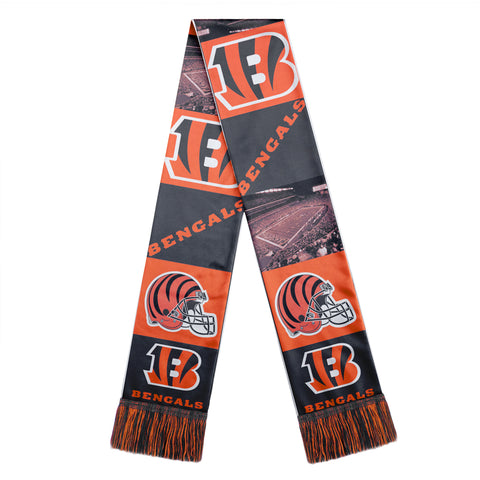 Cincinnati Bengals Scarf Printed Bar Design