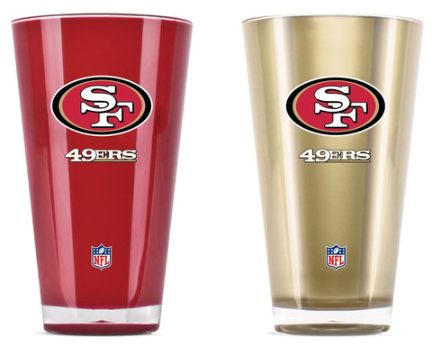 San Francisco 49ers Tumblers - Set of 2 (20 oz)