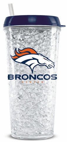 Denver Broncos Crystal Freezer Tumbler
