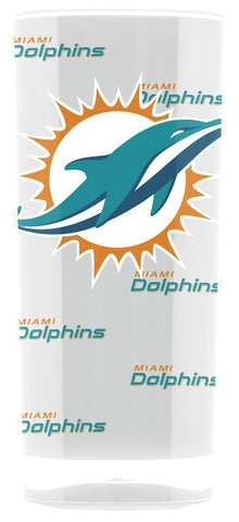 Miami Dolphins Tumbler - Square Insulated (16oz)