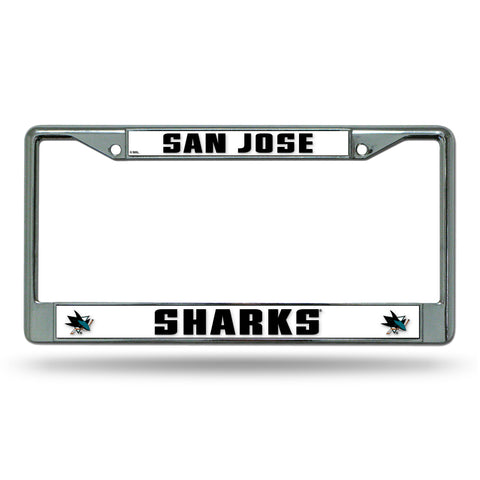 San Jose Sharks License Plate Frame Chrome
