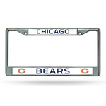 Chicago Bears License Plate Frame Chrome