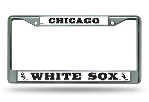 Chicago White Sox License Plate Frame Chrome