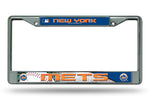 New York Mets License Plate Frame Chrome